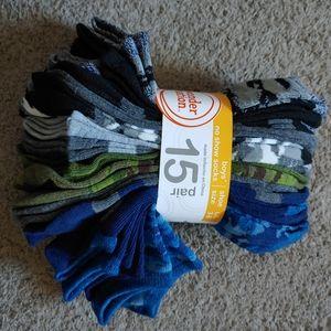 15 Pairs Of Boys Camo Socks
